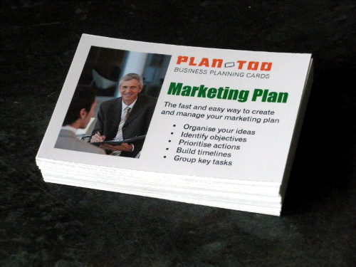 Marketing planning cards